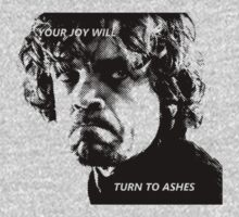 Tyrion Lannister - Ashes - Newsprint by TenTimesTen