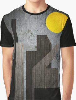 Grunge Winter Rusty City Geometric Flat Urban Landscape Graphic T-Shirt