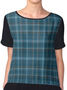 02563 Guilford County, North Carolina Fashion Tartan  Chiffon Top