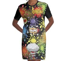 Women's Graphic T-Shirt Dress Kapow Graphic T-Shirt Dress