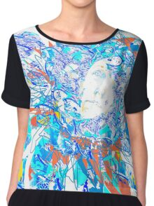 Abstract and Flower Portrait  Chiffon Top
