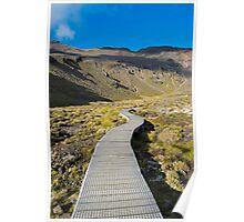 Boardwalk in Tongariro National Park (2) Poster