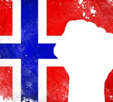 On The 8th Day God Created The Norwegians Because Even The Americans Need Heroes Sticker