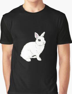 Monochrome Rabbit Graphic T-Shirt