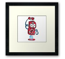 Red Robot Framed Print