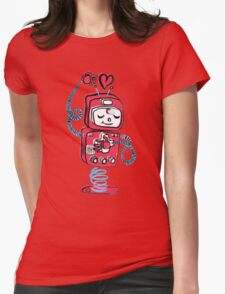 Red Robot Womens Fitted T-Shirt