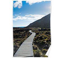 Boardwalk in Tongariro National Park (3) Poster