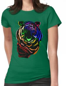 Punk Tiger Womens Fitted T-Shirt