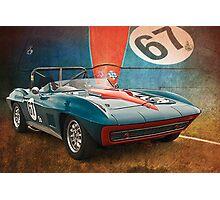 Blue Corvette Stingray Photographic Print