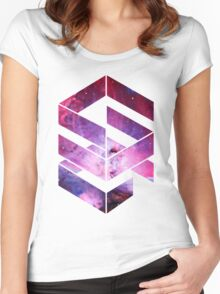 Abstract Space - version 1 Women's Fitted Scoop T-Shirt