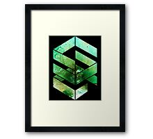 Abstract Space - version 2 - inverted Framed Print