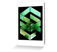 Abstract Space - version 2 - inverted Greeting Card