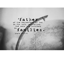Adoption Psalm Families Photographic Print