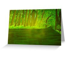 The green river Greeting Card