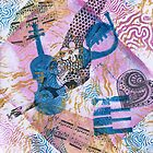 Musical Memories 5 Faux Chine Colle Monoprint by Heatherian