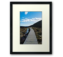 Boardwalk in Tongariro National Park (5) Framed Print