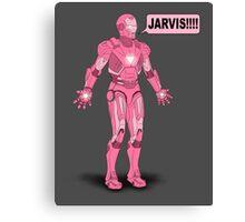 Pink Ironman Canvas Print