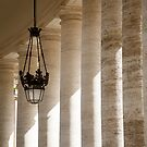 Light Through Vatican Columns by dbvirago