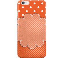Crafty Orange/White Polka Dot Country Design iPhone Case/Skin