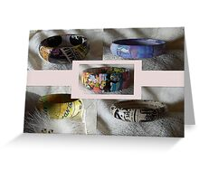 Bangle showcase  Greeting Card