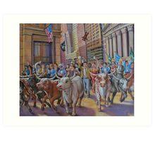 The Running of the Bulls Art Print