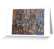 The Running of the Bulls Greeting Card