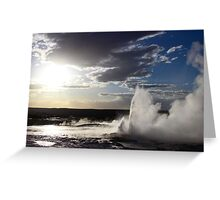 Yellowstone Sunset Greeting Card