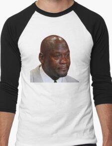 High Quality Crying Jordan Men's Baseball ¾ T-Shirt