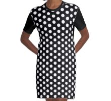 Polka Dot Dress - White Repeating Pattern Dots Graphic T-Shirt Dress