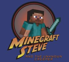 Minecraft Steve and the Unknown Creeper by supercujo