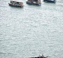 ferry boat at toba lake by bayu harsa
