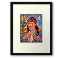 Peyote Woman Framed Print