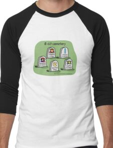 8-bit cemetery Men's Baseball ¾ T-Shirt