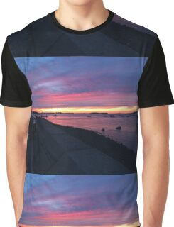 Boston Hahbah Sunset Graphic T-Shirt