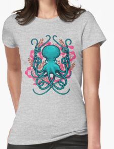 Octupus & Coral Womens Fitted T-Shirt
