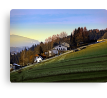 Village houses on the hill | landscape photography Canvas Print