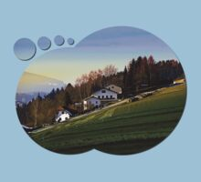 Village houses on the hill   landscape photography Kids Clothes