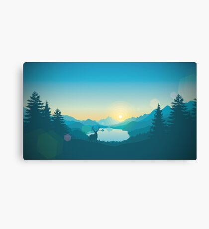 Firewatch Art Design 4K Canvas Print