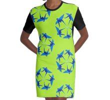 origami crane Graphic T-Shirt Dress