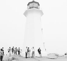Lighthouse Language - Black and White by Kyra Savolainen