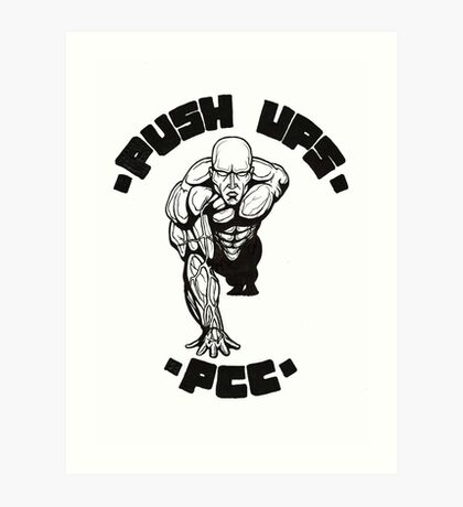 One Arm Push Up Art Print