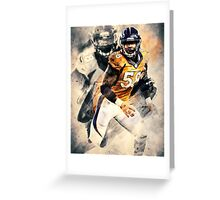 Von Miller Denver Football Art Sports Greeting Card