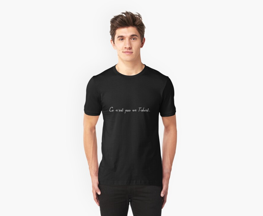Ce n'est pas un T-shirt - This is not a T-shirt (inverted) by VenusOak