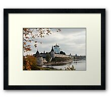 Pskov Kremlin  Framed Print