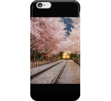 Riding through spring iPhone Case/Skin