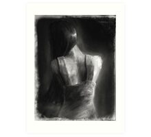 Song For Eurydice (charcoal and chalk, some dirt and sand.) Art Print