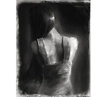Song For Eurydice (charcoal and chalk, some dirt and sand.) Photographic Print