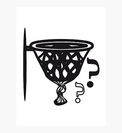 Basketball sports funny Photographic Print