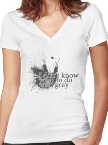 All This Gray Women's Fitted V-Neck T-Shirt