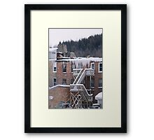 Hanging Ice Framed Print